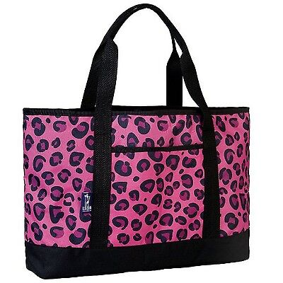 Wildkin Leopard Tote-All Bag Pink One Size New