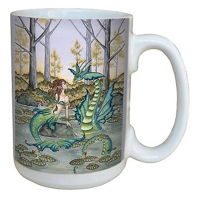 Tree-Free Greetings lm43559 Fantasy Lazy Afternoon Fairy Ceramic Mug with... New