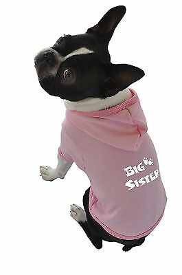 Ruff Ruff and Meow Large Dog Hoodie Big Sister Pink New