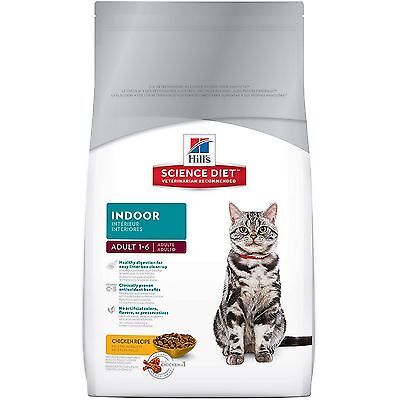Hill's Science Diet Adult Indoor Dry Cat Food 15.5-Pound Bag New