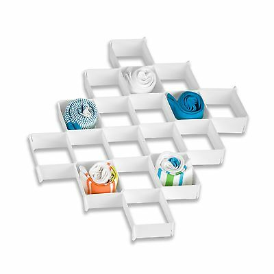 Honey-Can-Do SFT-01625 Drawer Organizer 32-Compartment White New