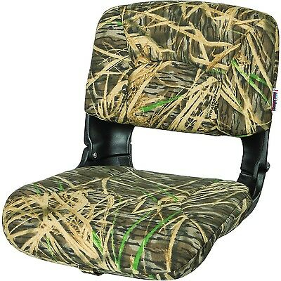 TEMPRESS All Weather High Back Black Seat/Mossy Oak Shadowgrass Cushion New