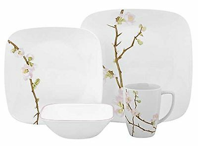 Corelle Cherry Blossom Square 16-Piece Dinnerware Set Service for 4 New