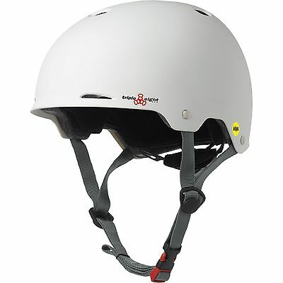 Triple Eight Gotham Helmet with MIPS White Matte Small/Medium New