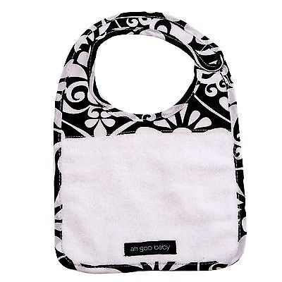 Ah Goo Baby The Bib (Audrey) Black/White 1-Pack Audrey New