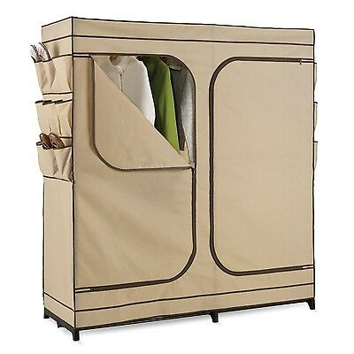 Honey-Can-Do WRD-01272 Double Door Storage Closet with Shoe Organizer 60-... New