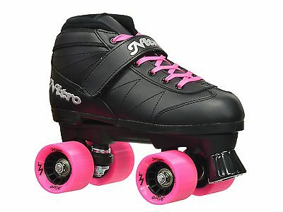Epic Skates 2016 Super Nitro 1 Indoor/Outdoor Quad Speed Roller Pink Yout... New