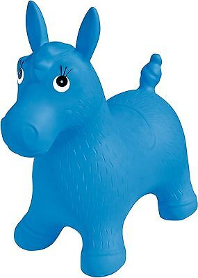 Ball Bounce and Sport Pony Inflatable Animal Hopper Blue Blue Pony New