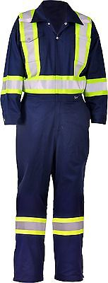 Viking CSA Striped Safety Coveralls 3X-Large Tall Navy New