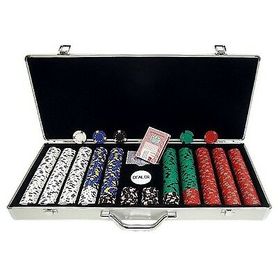 Trademark Poker 650 Chip Pro Clay Casino Chips with Aluminum Case Silver ... New