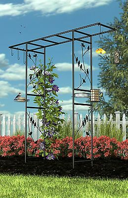 Panacea 83145 Garden Arbor and 10-Piece Bird Feeding Station with Accesso... New
