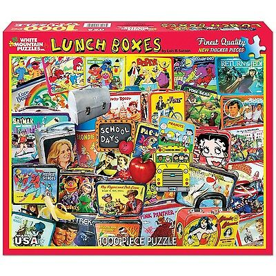 White Mountain Puzzles Lunch Boxes - 1000 Piece Jigsaw Puzzle New