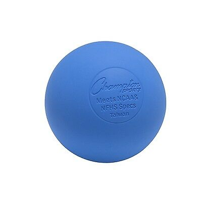 Champion Sports Official Lacrosse Balls (Blue Pack of 12) Blue New