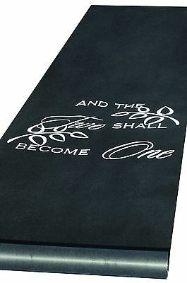 Hortense B. Hewitt Wedding Accessories Two Become One Aisle Runner Black ... New