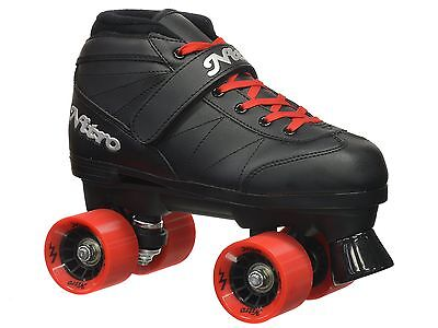 Epic Skates 2016 Super Nitro 1 Indoor/Outdoor Quad Speed Roller Red Youth 1 New