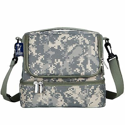 Wildkin Digital Double Decker Lunch Bag Camo Digital Camo New