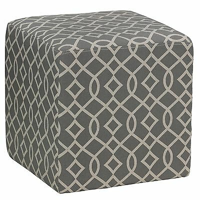 Cortesi Home Braque Tufted Cube 15.5 by 15.5-Inch Gray New