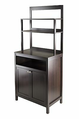 Winsome Wood Jamie Cabinet 2-Door with Hutch New