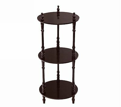Frenchi Home Furnishing 3-Tier Shelves Cherry Brown New