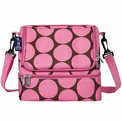 Wildkin Big Dots Double Decker Lunch Bag Pink Big Dots Pink New