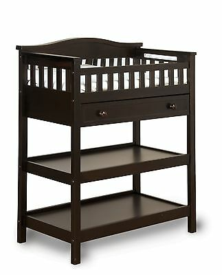 Child Craft Watterson Dressing Table with Mirror and Drawer Jamocha Pack ... New