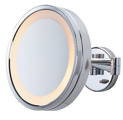 Jerdon HL8C 3X Magnification Lighted Direct Wire Wall Mount Mirror Chrome New