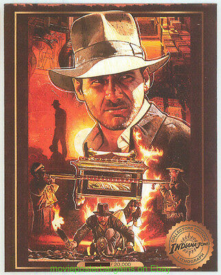 Indiana Jones - Raiders Of The Lost Movie Poster Art - Rare Lithograph Set Of 5