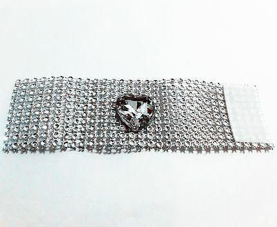 Crystal Diamond Napkin Ring for Wedding Party Dinner Set of 6 Silver Table Decor