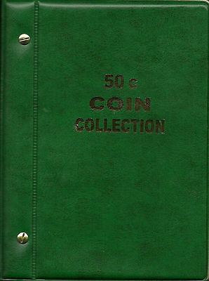 VST AUSTRALIAN 50c COIN ALBUM 1966 to date MINTAGES PRINTED with 5 extra Pages