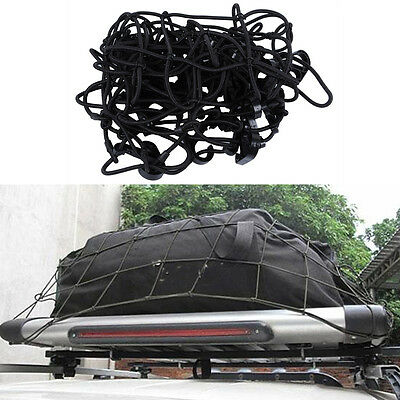 Car Roof Racks Baggage Net Carrying Mesh Guard Luggage Cargo Cord Hooks Net Tool