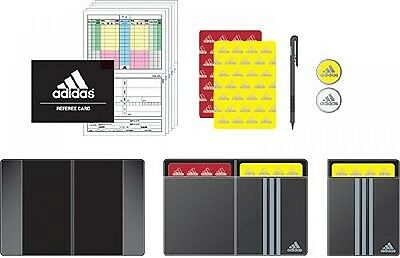 New Adidas Football Referee Cards Coin Case Booklet Yellow Red card set Japan