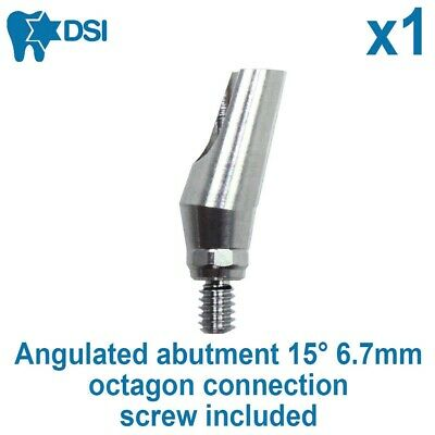 Dental Implant Angulated Abutment 15° For Straumann Octagon Connection 6.7mm