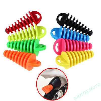 Motorcycle Exhaust Pipe Rubber Plugs Excite Motocross Muffler Waterproof Bung