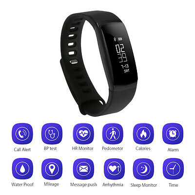 Smart Band Sport Watch Blood Pressure Heart Rate Monitor Activity Tracker AC727