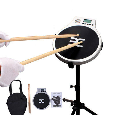 Digital Drummer Training Electronic Practice Drum Pad Metronome+Counting Clock