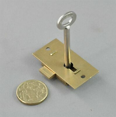 "CUPBOARD LOCK-JACKSONS JC51-51mm-SOLID BRASS-small cabinet door-vintage""antique"""