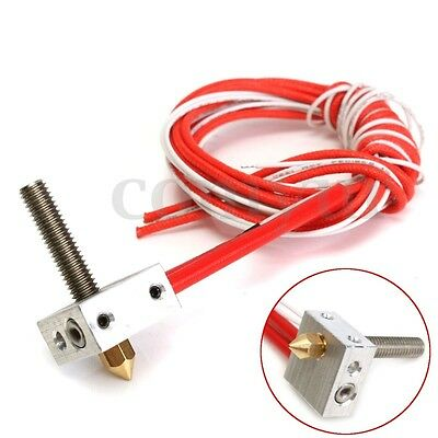MK8 Assembled Extruder Hot End Kit for Prusa i3 3D Printer 1.75mm 0.4mm Nozzle