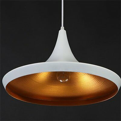 Modern White Gold Ceiling Pendant Light Lamp Shade Hanging Fixture 36x17cm *WQ*