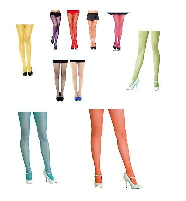 Fishnet Tights -Fine Net with Spandex Elastic Waistband Various Colour & Size