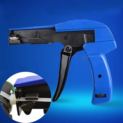 Cable Wire Tie Gun 2.4 ~ 4.8mm Fastening Cutting Tool Tensioner Fastener Blue