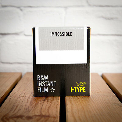 Impossible Project I-Type Black & White Instant Film *new Stock* - 8 Shots