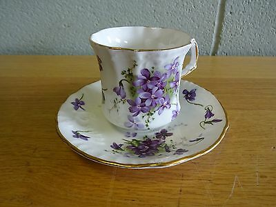Vintage Hammersley Bone China Victorian Violets Coffee Tea Cup Saucer