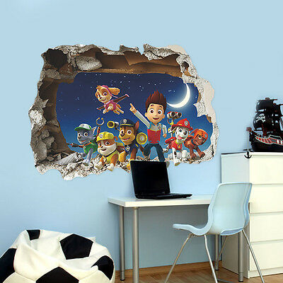 3D Wall Sticker Paw Patrol Home Decor Removable Sticker Art Decal For Kids Room
