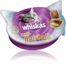 Whiskas Alimentos para gatos anti hairball bits