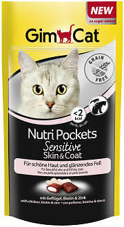 Gimcat NutriPockets Sensitive Skin, 50g