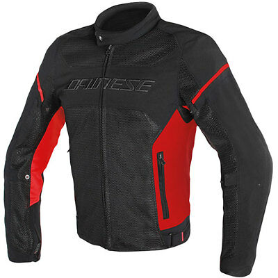 Dainese Air Frame D1 Textile Motorcycle Motorbike Jacket - Black / Red / Red