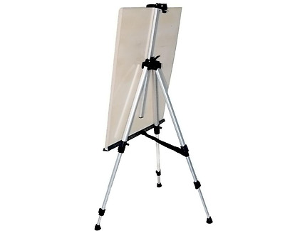 Metal Art Easel Foldable Aluminium Height Adjustable Field Stand Lightweight NEW