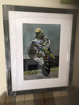 Signed Valentino Rossi Large Framed Photo. Stunning