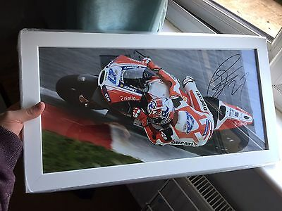 Signed Casey Stoner Large Framed Photo. Stunning