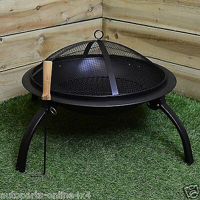 Steel Fire Pit with Grill One size - 54 x 44.5cm Redwood brand  BB-CH712